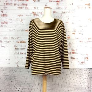 Vintage Cathy Daniels Sparkly Gold Stripes Shirt